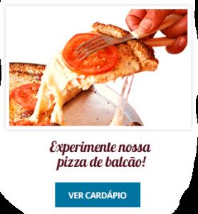 Experimente nossa pizza de balcão na Padaria da Mooca
